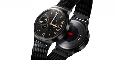 Huawei Watch black front and back