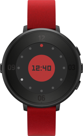 Pebble Time Round Black 14mm strap