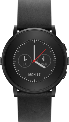 Pebble Time Round Black 20mm strap