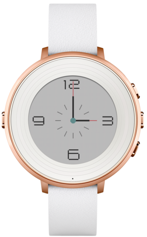 Pebble Time Round White and Rose Gold 14mm strap