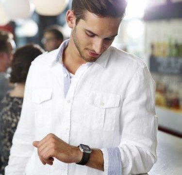 Sony Smartwatch on wrist 1