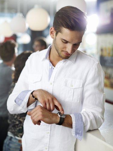 Sony Smartwatch on wrist 2