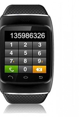 CNPGD-S12-Smart-Sync-Call-SMS-Bluetooth-Watch-PedometerRecordingAnti-Lost-for-iPhone-5S54S4-Android-Samsung-S5S4S3S2Note-3Note-2IOS-System-Can-Use-Partial-Function-All-Black-0