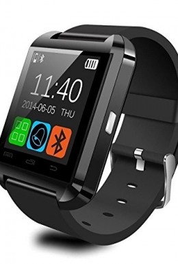 Fanmis-Bluetooth-Smart-Watch-Wrist-Wrap-Watch-Phone-for-IOS-Apple-Iphone-44s55c5s-Android-Samsung-S2s3s4note-2note-3-HTC-Nokia-Black-0