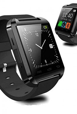 LuxsureBluetooth-Smart-Watch-WristWatch-U8-UWatch-Fit-for-Smartphones-IOS-Android-Apple-iphone-44S55C5S-Android-Samsung-S2S3S4Note-2Note-3-HTC-Sony-BlackberryBlack-0