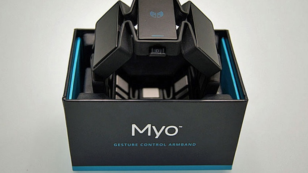 Myo gesture control armband package