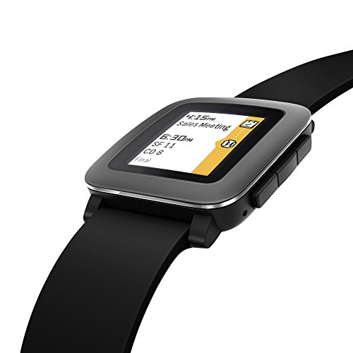 Pebble Time smartwatch black 6