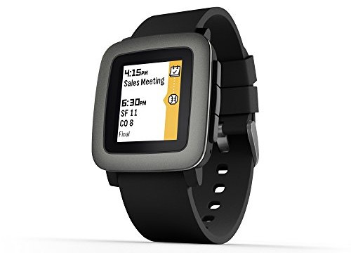 Pebble Time smartwatch black 1