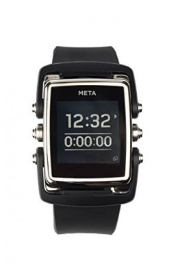 Meta-M1-Core-Black-Rubber-MW4003-Smart-Watch-Bluetooth-40-connectivity-iOS-and-Android-Compatible-Stainless-Steel-Face-Black-Nylon-and-Black-Rubber-Strap-0