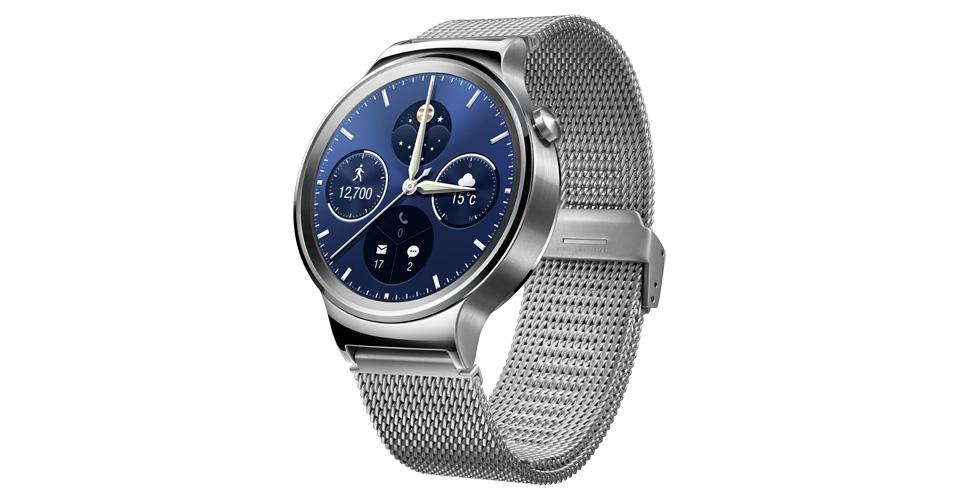 Huawei Watch silver front