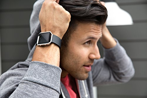 Fitbit Blaze black on wrist