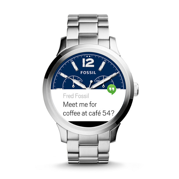 Fossil Q Founder message notification