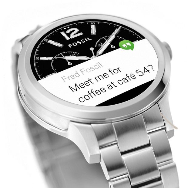 Fossil Q Founder message notification 02