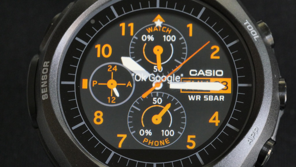 Casio WSD F10 watch face